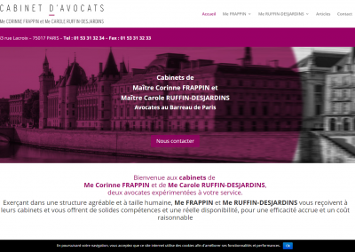 Site Vitrine WordPress d'un cabinet d'avocat