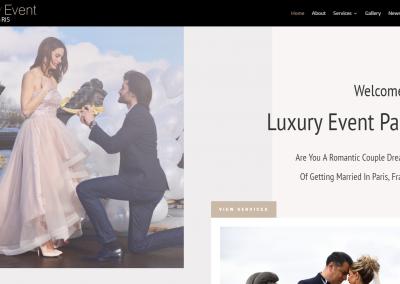Site Vitrine WordPress d'une Event Designer