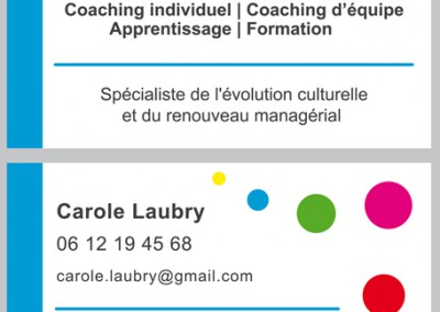 Carte de visite Recto verso / Société de Coaching  /  Illustrator