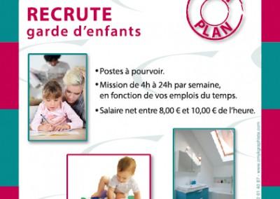 Affiche / Société de Service à la personne / Illustrator