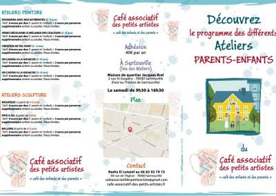 Dépliant en 3 volets / Association pour activités enfants /  Illustrator