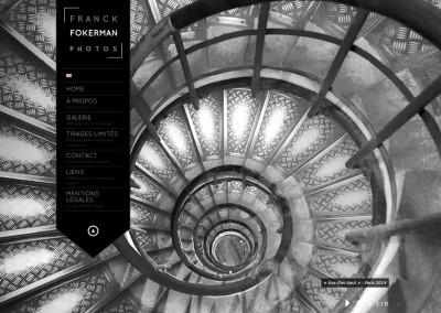 """Site Vitrine WordPress / Page d'accueil <a href= """"http://franckdfokerman.com/photographe/fr/"""">Voir le du Photographe</a>"""