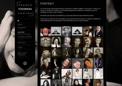 "Site Vitrine WordPress / Page galerie <a href= ""http://franckdfokerman.com/photographe/fr/"">Voir le du Photographe</a>"