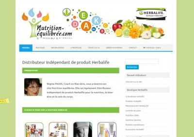 """Site E-commerce WordPress <a href= """"http://www.nutrition-equilibree.com/"""">Voir le site de produit diététique </a>"""