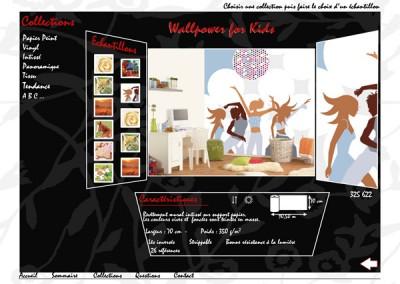 Site vitrine en Animation flash / Page d'accueil / Présentation de collection de papier peint