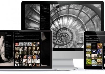 """Site Vitrine WordPress / Adaptable sur tout support - Ordinateur, tablette, smartphone  <a href= """"http://franckdfokerman.com/photographe/fr/"""">Voir le du Photographe</a>"""