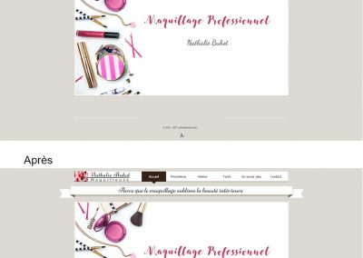 Relooking site WIX d'une maquilleuse professionnelle-CMYK-graphiste