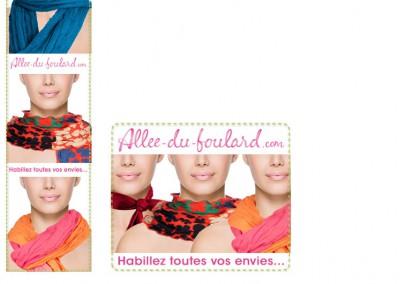 Bannières Pub / Pour campgne de pub pour un site de ventes en ligne / Montage photo pour  incrustaion des foulard / Photoshop
