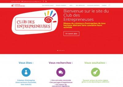 """Site Vitrine WordPress <a href= """"http://www.club-des-entrepreneuses.fr/"""">Voir le site d'un Réseau d'entreprises</a>"""