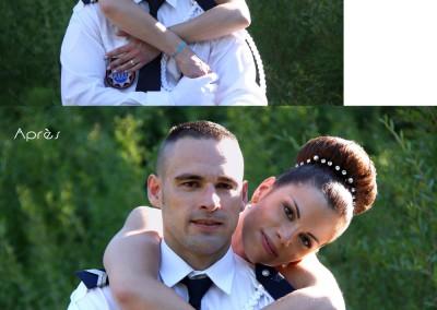 Retouche photo / Retouche beauté, retouche des bracelets, correction du contraste et recadrage / Photoshop