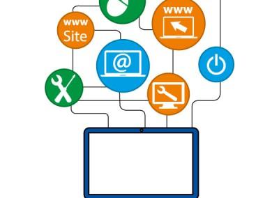 Pictogrammes informatique / Création de Pictos et illustration pour illustrer un site web