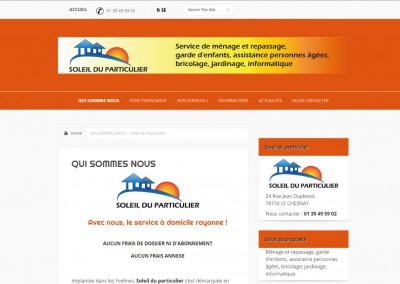 Site Vitrine WordPress - Service à la personne
